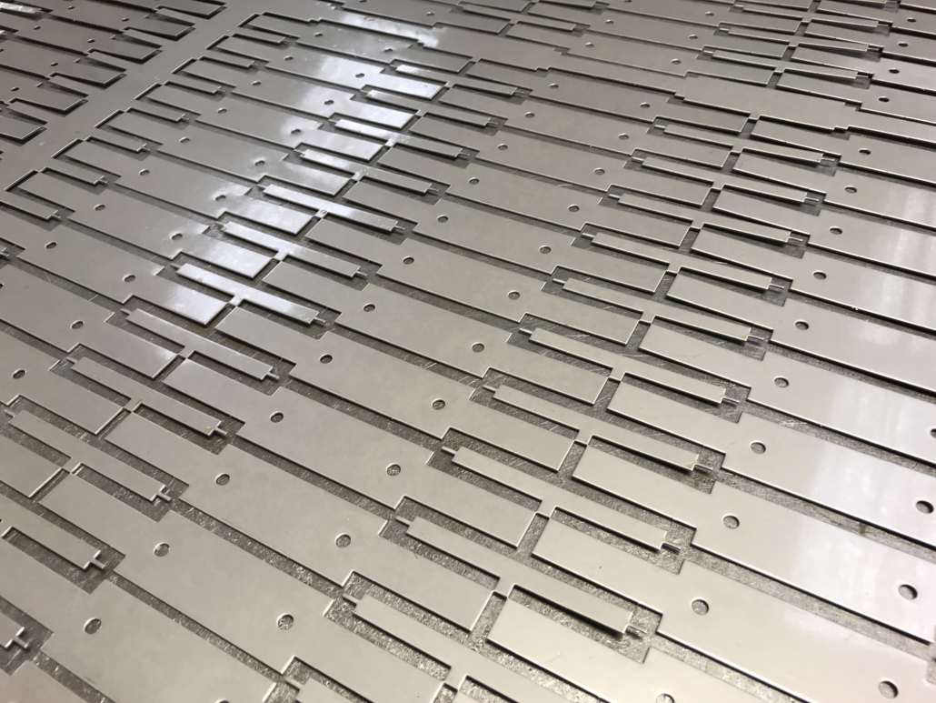 Steel sheet laser cutting