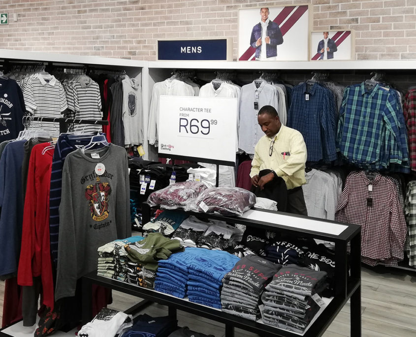 cwd manufacturing pick n pay sandton city centre floor steel clothing stand