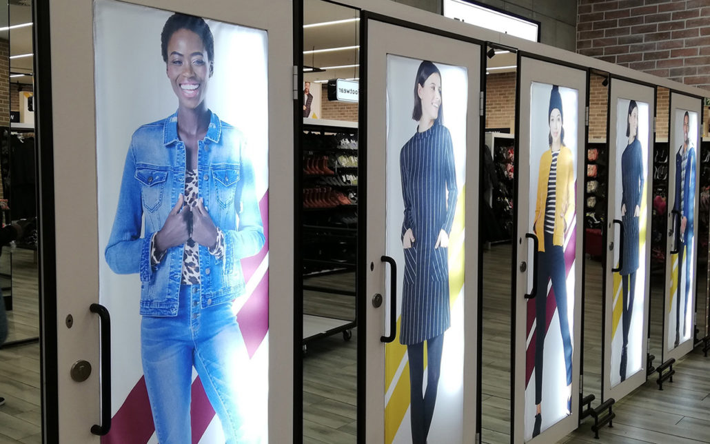 cwd manufacturing pick n pay sandton city LED display stand